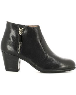 107150 Ankle Boots Women Women's Mid Boots In Black