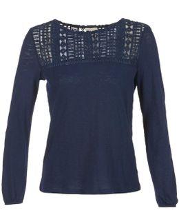 Frettago Women's Long Sleeve T-shirt In Blue