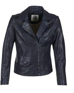 Vestarola Women's Leather Jacket In Blue
