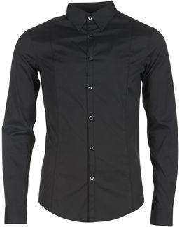 Quenot Men's Long Sleeved Shirt In Black