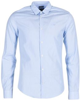 Queria Men's Long Sleeved Shirt In Blue