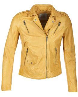 Vestarola Women's Leather Jacket In Yellow