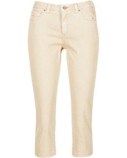 Karavoti Women's Cropped Trousers In Beige