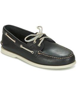 A/o 2-eye Men's Boat Shoes In Blue