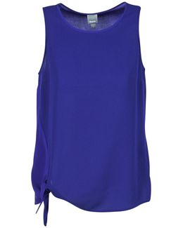 Top Woth Knok Detailing Women's Vest Top In Blue