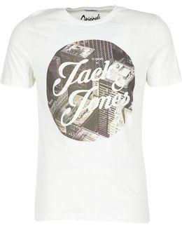 New Town Originals Men's Long Sleeve T-shirt In White