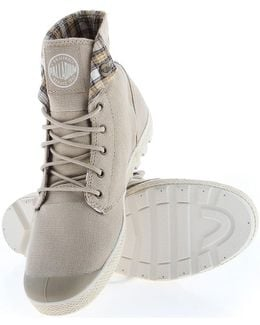 Slim Snaps Women's Shoes (high-top Trainers) In Beige