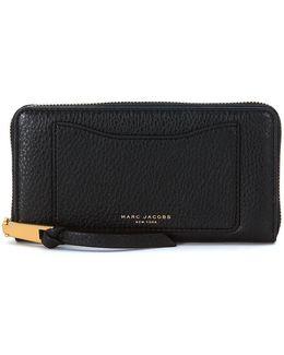 Recruit Wallet In Black Tumbled Leather Women's Purse Wallet In Black
