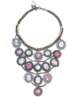 Collana Lunga Pietre Rosa Women's Necklace In Pink