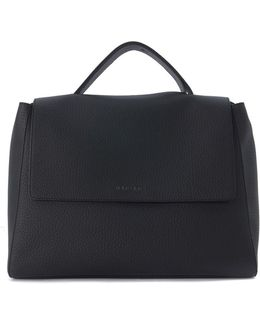 Black Tumbled Leather Bag Women's Shoulder Bag In Black