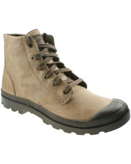 Pampa Hi Leather Men's Shoes (high-top Trainers) In Brown