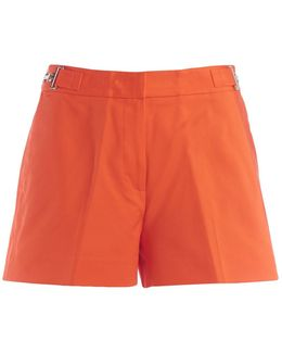 Michael Kors Orange Shorts With Clamp Women's Trousers In Orange