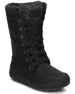 Fremont Lace Tall Women's Shoes (high-top Trainers) In Black