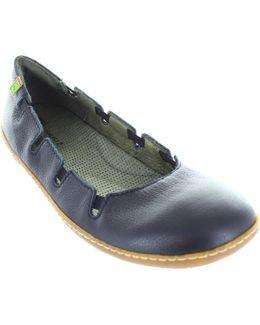 El Viajero Women's Formal Elasticated Leather Ballerina Pumps Women's Shoes (pumps / Ballerinas) In Black