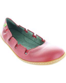N5272 El Viajero Women's Elasticated Leather Ballerina Pumps Ne Women's Shoes (pumps / Ballerinas) In Red