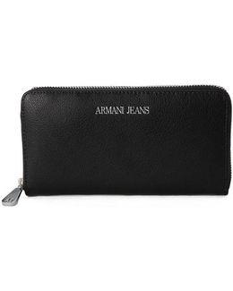 Armani Jeans Cintura Black Women's Purse Wallet In Multicolour