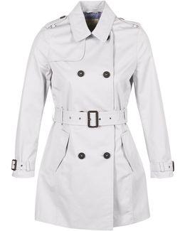 Cocilota Women's Trench Coat In Grey