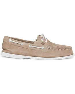 Top-sider Washable Nubuck Boat Shoe Grey Men's Boat Shoes In Grey