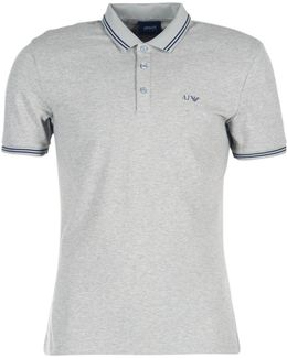 Quovia Men's Polo Shirt In Grey