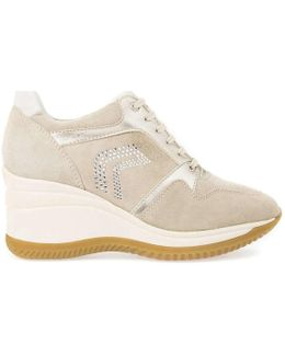D6475b 00022 Shoes With Laces Women Beige Women's Walking Boots In Beige