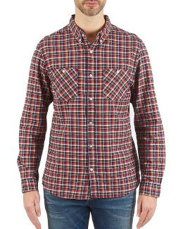 Newark Men's Long Sleeved Shirt In Multicolour