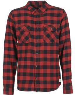 All Day Flannel Men's Long Sleeved Shirt In Red