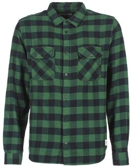 All Day Flannel Men's Long Sleeved Shirt In Green