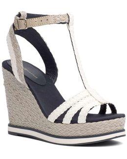 Fw0fw00330 Wedge Sandals Women Bianco Women's Sandals In White