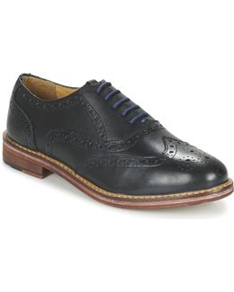 Oxford Brogue Men's Casual Shoes In Black