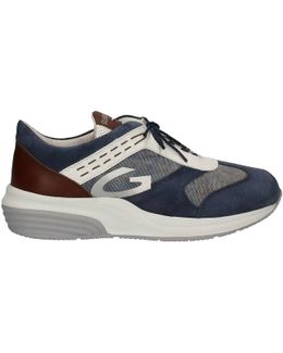 Su74321c Shoes With Laces Man Blue Men's Walking Boots In Blue