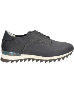Su744559a Shoes With Laces Man Blue Men's Walking Boots In Blue