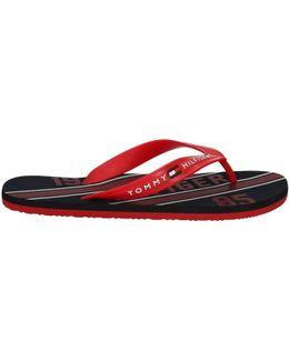 Fm0fm00320 Flip Flops Man Rossa Men's Flip Flops / Sandals (shoes) In Red