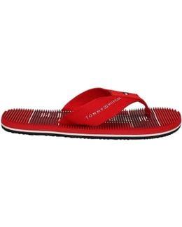 Fm0fm00533 Flip Flops Man Rossa Men's Flip Flops / Sandals (shoes) In Red