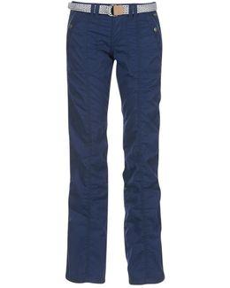 Turn Up Women's Trousers In Blue