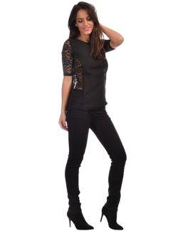 Top Bubble Women's Blouse In Black