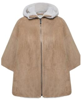 Poncho Lugano Women's Cardigans In Brown