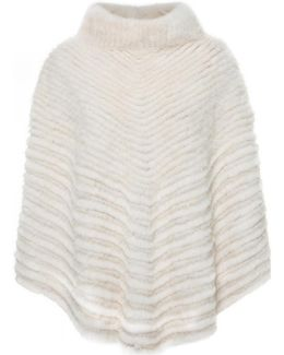 Poncho Louvre Women's Cardigans In White