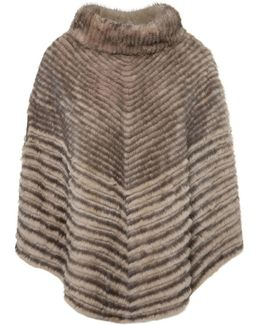 Poncho Louvre Women's Cardigans In Brown