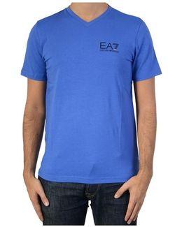 T-shirt 6xpt53 1586 Bluette Men's T Shirt In Blue