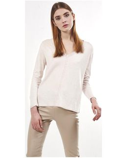 Pullover Mystere Women's Sweater In White
