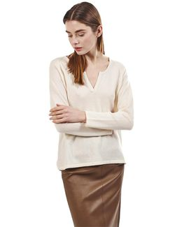 Pullover Max Women's Sweater In White