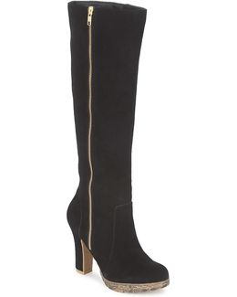Pricilla Women's High Boots In Black