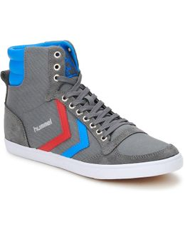 Ten Star High Canvas Women's Shoes (high-top Trainers) In Grey