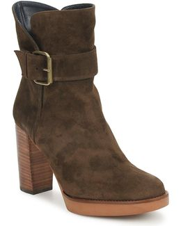 Tona Women's Low Ankle Boots In Brown
