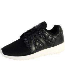 Sneakersball Super Prenium Black Black Quilted Women's Shoes (trainers) In Black