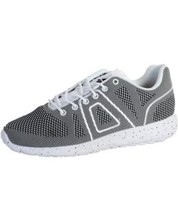 Sneakersball Super Yarknit White Black Women's Shoes (trainers) In Grey