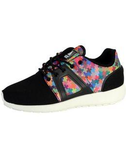 Sneakersball Super Tech Pixel Multicolor Women's Shoes (trainers) In Black