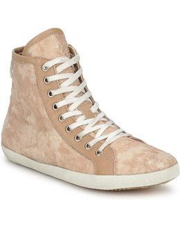 Lesley Women's Shoes (high-top Trainers) In Beige