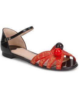 Pretty Cherry Women's Sandals In Red