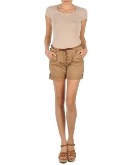 Short Poches Zippees Women's Shorts In Beige